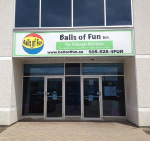 Front Entrance to Balls of Fun Gym