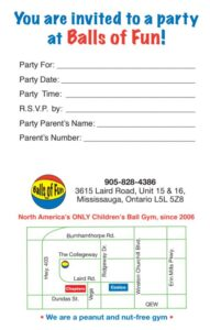Image of a party invitation with map
